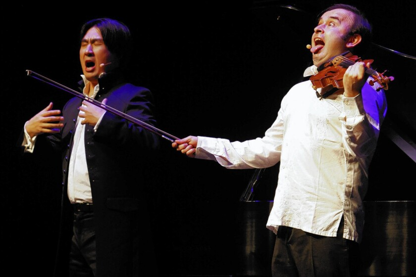 Igudesman & Joo have fun with Mozart, other classical dudes