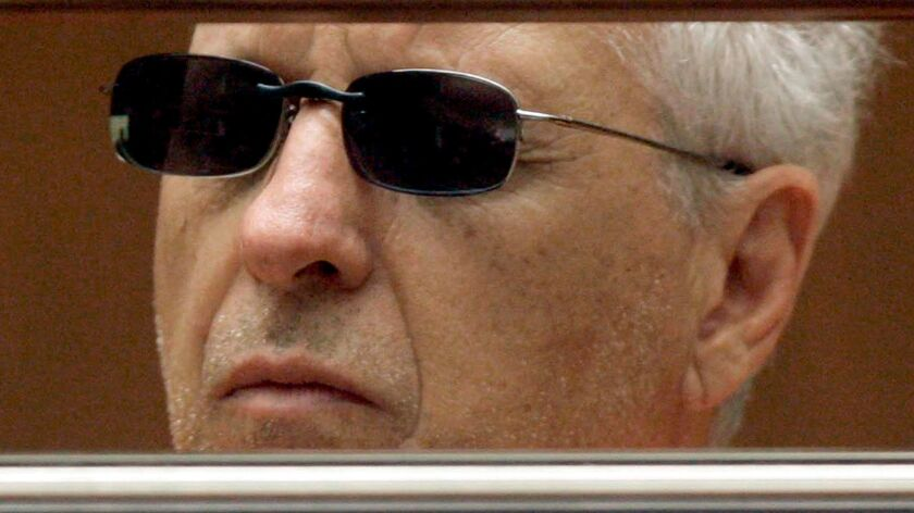 Former Hollywood private eye Anthony Pellicano in court in 2009. A federal judge sentenced him to 15 years in prison for illegally wiretapping phones for rich and famous clients.