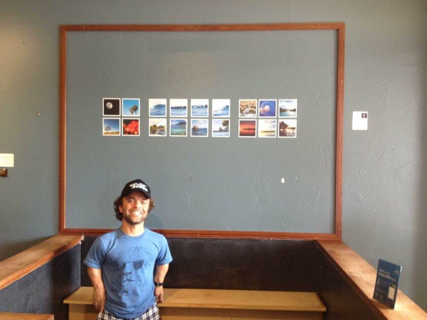 Ryan Gambrell with his photos