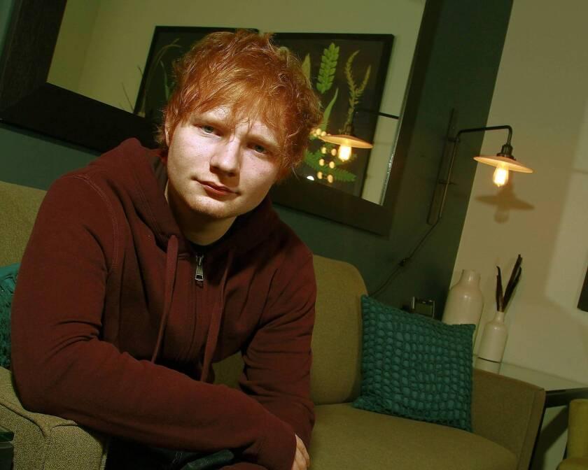 English singer-songwriter Ed Sheeran found huge success in the U.K. and is making a go of it in the United States.