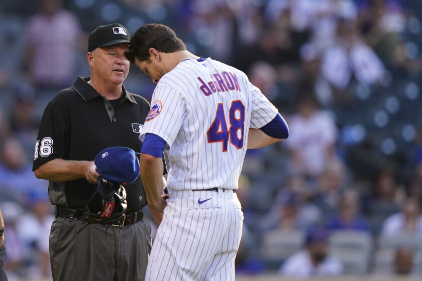 El abridor de los Mets de Nueva York Jacob deGrom