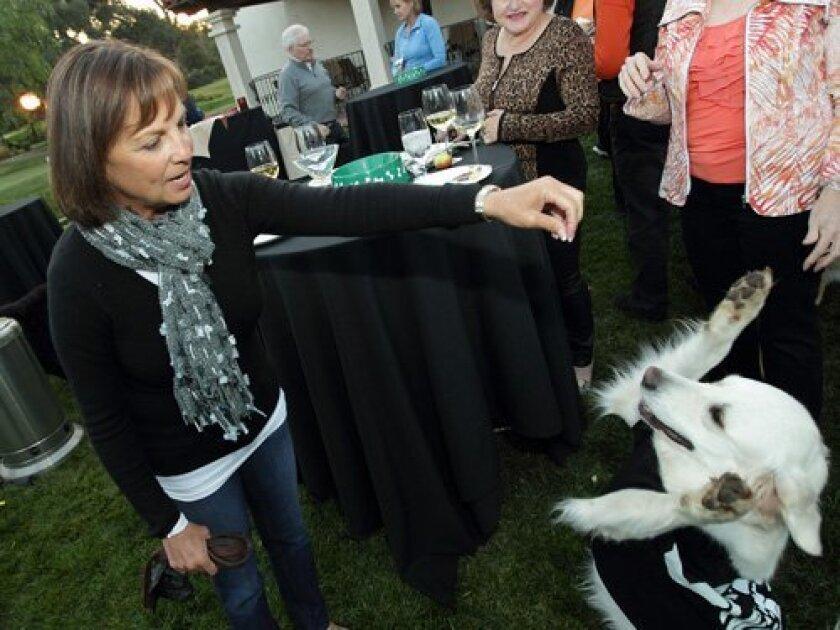 Debbie Gustafson with Sadie