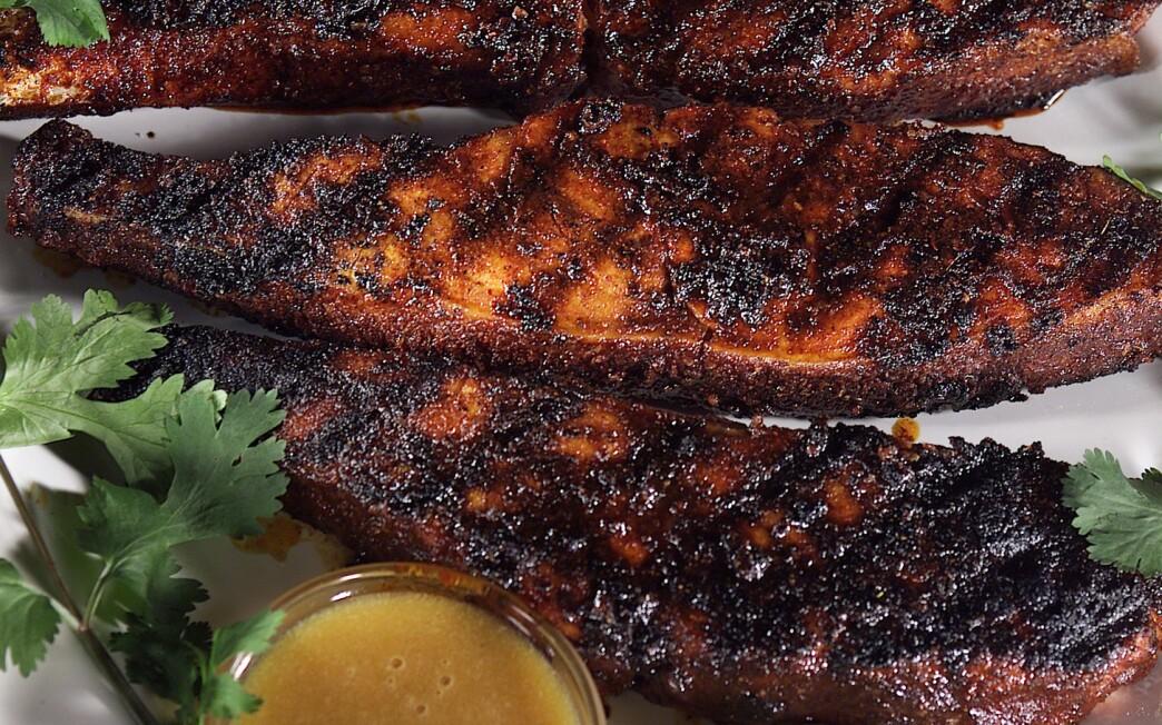 Barbecued Sugar-Spice Salmon