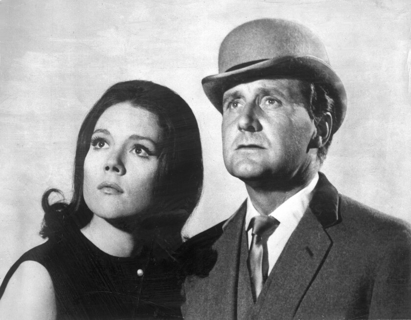 "Patrick Macnee and Diana Rigg in ""The Avengers"""