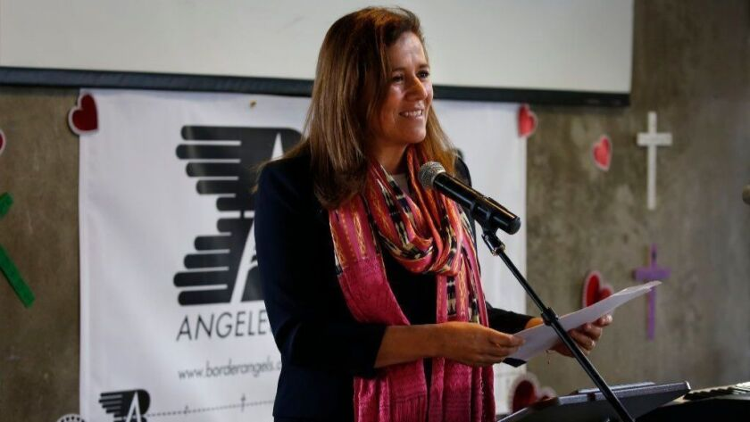 Former Mexican First Lady and candidate for president of Mexico, Margarita Zavala attended the Faith, Hope and Charity fundraising breakfast Friday for the Border Angels