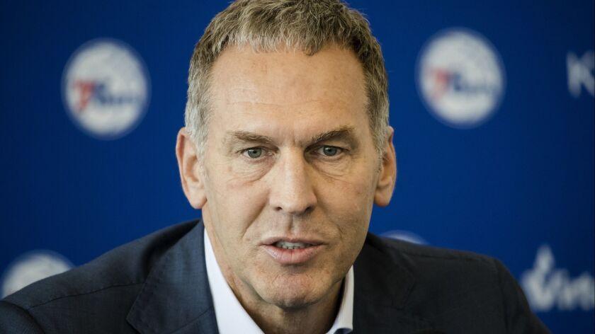 Philadelphia 76ers President of Basketball Operations Bryan Colangelo.
