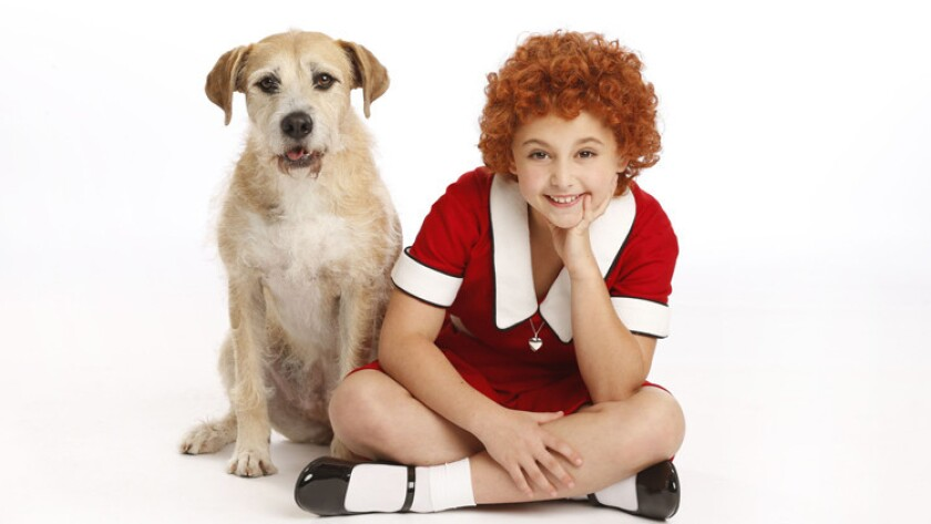 """Issie Swickle in """"Annie the Musical"""""""