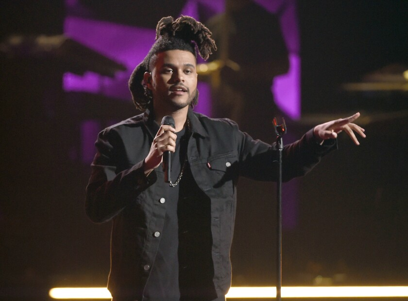 The Weeknd performs at the BET Awards in Los Angeles on June 28, 2015.