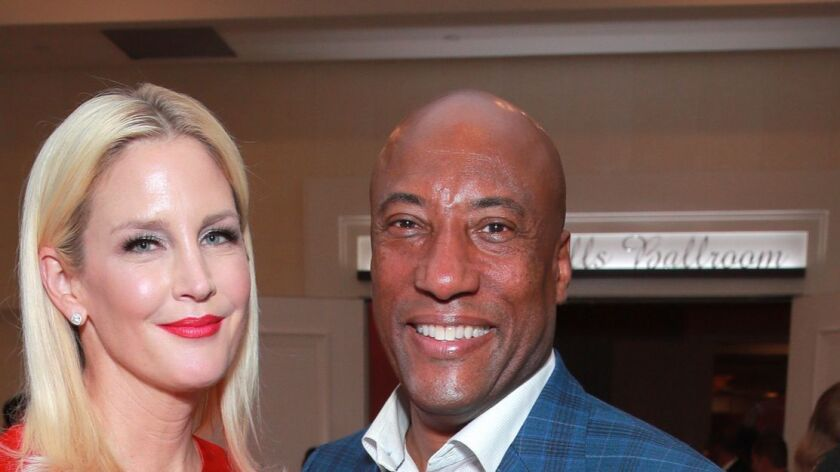 Jennifer Lucas and Byron Allen attend the 26th annual Race to Erase MS on May 10 in Beverly Hills.