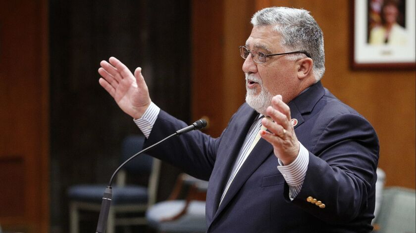 California State Senator Anthony Portantino presents the State of Schools to the BUSD school board a