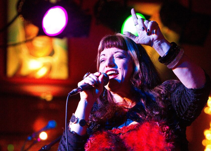 Charismatic vocal dynamo Candye Kane (above) will be honored by some of her former band mates at Friday's second annual San Diego Music Hall of Fame Induction & Concert.