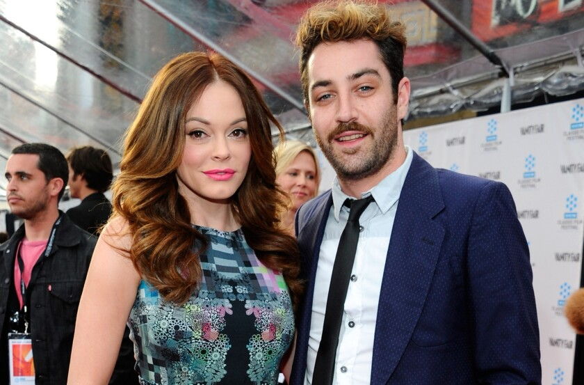 """Rose McGowan of """"Charmed"""" fame has married artist Davey Detail."""