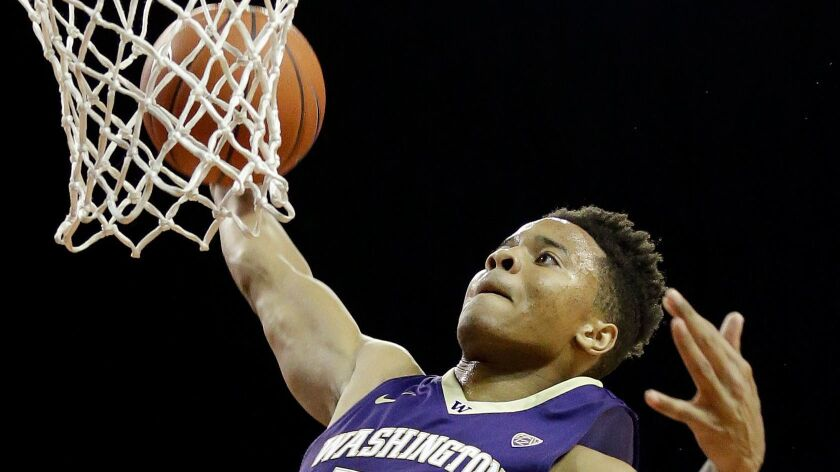 Washington's Markelle Fultz is considered one of the best two point guards in the upcoming NBA draft.