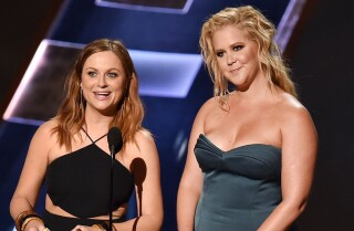 Amy Schumer & Amy Poehler kick off Emmys with antics | Emmys 2015