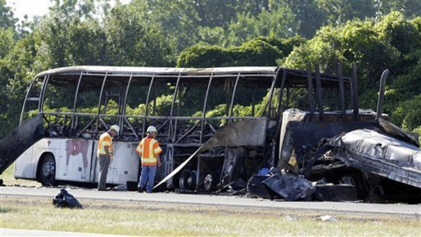 Probe of fatal NY bus crash looks at speed, timing - The San