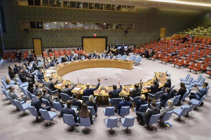 Fotografía cedida por la ONU donde aparece el pleno del Consejo de Seguridad durante una reunión sobre la paz y la seguridad en África celebrada hoy, martes 30 de octubre de 2018, en la sede del organismo en Nueva York (EE.UU.). EFE/Manuel Elias/ONU/SOLO USO EDITORIAL/NO VENTAS