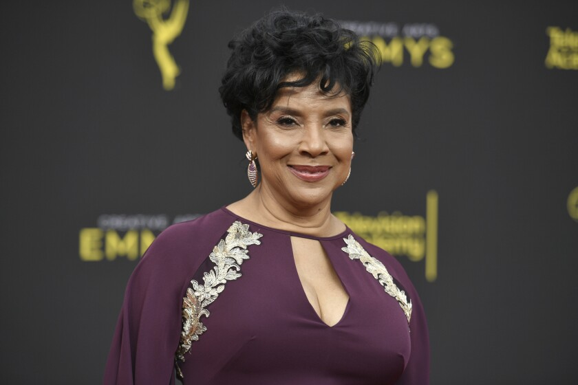 FILE - Phylicia Rashad arrives at the Creative Arts Emmy Awards in Los Angeles on Sept. 15, 2019.