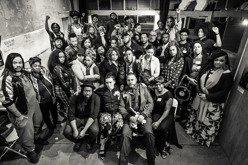 Members of the San Diego Black Artists Collective, which formed in early 2020.