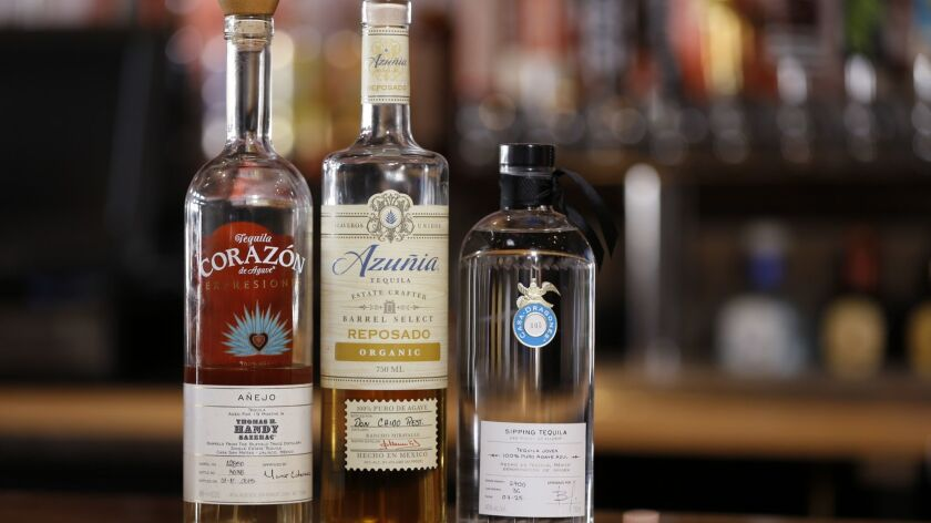 A variety of tequila brands available at Volcano Rabbit.