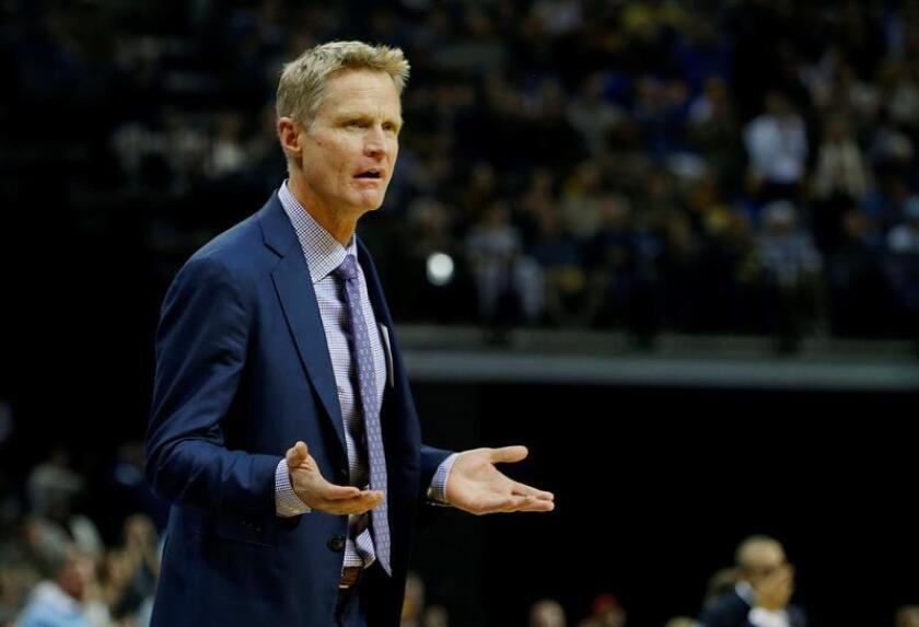 El entrenador de Golden State Warriors Steve Kerr. EFE/Archivo
