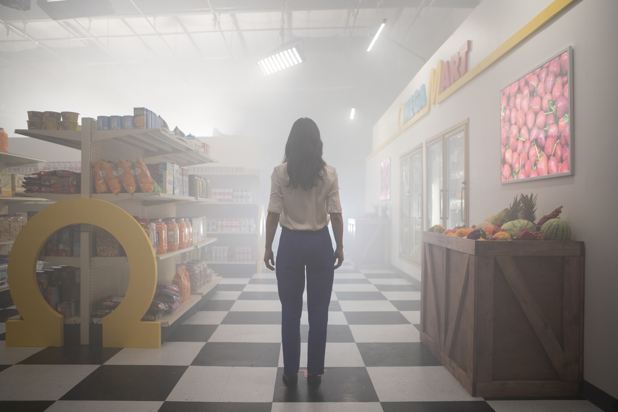 """Inside the Meow Wolf Las Vegas experience, Omega Mart is a """"grocery store""""  that can transport you to other realms."""