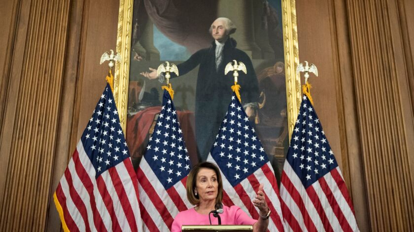 House Minority Leader Nancy Pelosi (D-San Francisco) secured 203 votes from 239 participants, or about 85% of the caucus, to become the Democrats' nominee for speaker.