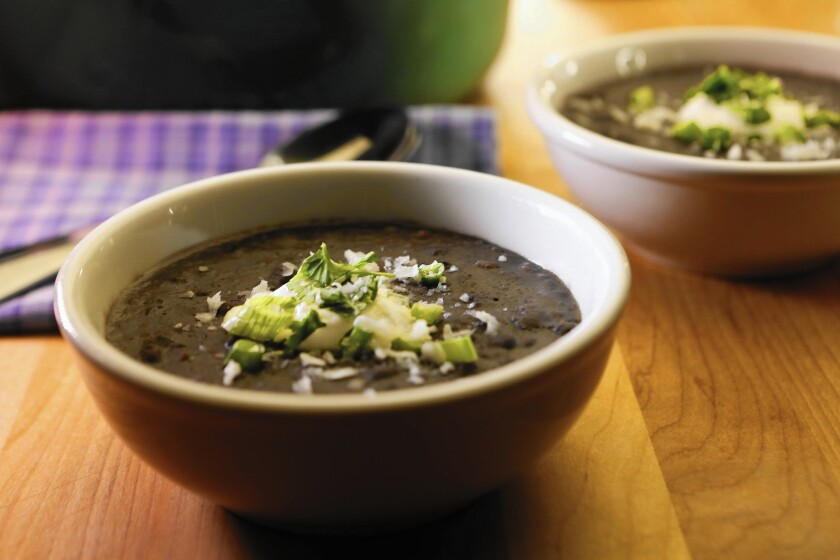 Smoky black bean stew