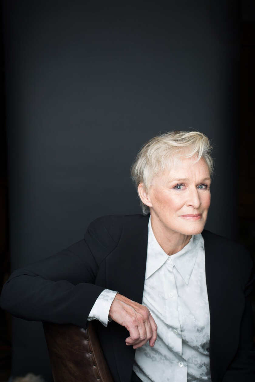 """Actress Glenn Close, whose role in """"The Wife""""' is leading to Oscar speculation, poses for a portrait at the Public Theater on Oct. 9, 2018 in New York City. Close has been nominated six times, but has yet to win."""