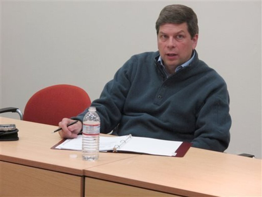 In this June 7, 2013 photo, Sen. Mark Begich, D-Alaska, speaks during a meeting with local business leaders in Juneau, Alaska. Begich, a Democrat from Alaska seeking re-election next year, probably couldn't ask for a better start in his re-election campaign, with the state Republican Party emerging from a chaotic year and gearing up for a divisive primary as it hunts for a strong challenger to run against him. Even so, the freshman senator - who has a political pedigree, a wad of campaign cash a