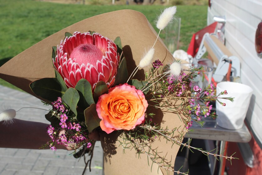 A bouquet of blooms from the Posies pop-up at One Paseo.