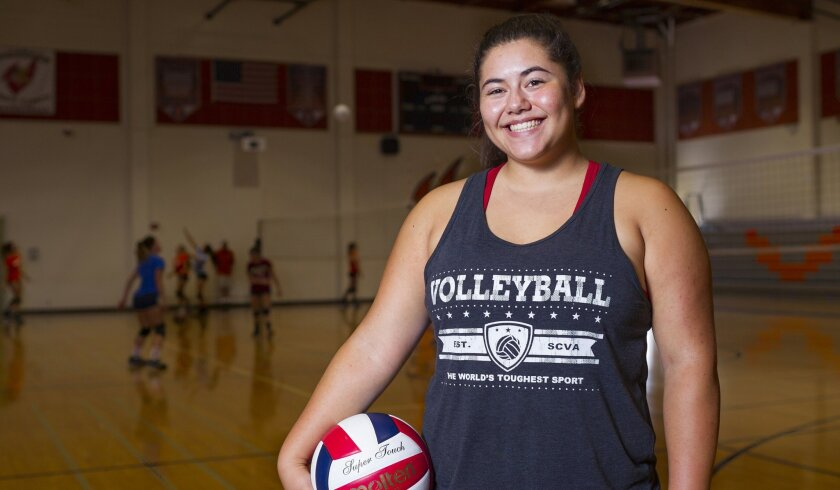 Maiya Lopez, 17, whose parents played volleyball, began focusing on the sport when she was 9. Her skills and leadership ability were noticed last year when league coaches voted her Player of the Year.