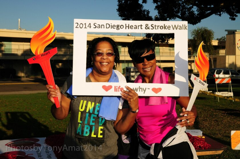 Walkers at the 2014 Heart & Stroke Walk. This year's walk is Sept. 19 in Balboa Park. Courtesy photo