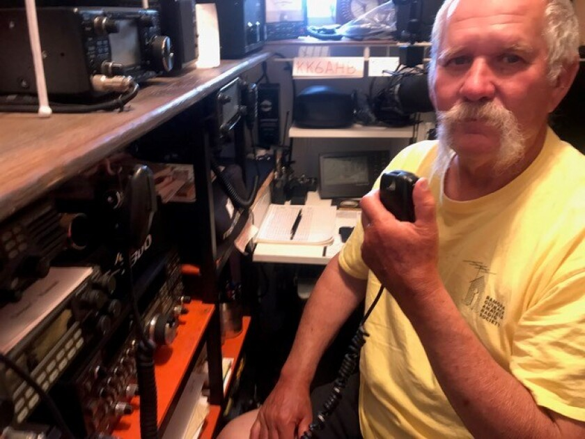 Ramona Amateur Radio Society (ROARS) President Steve Stipp worked this year's Field Day event for the first time from home.