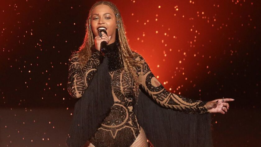 """Madame Tussauds reports that its wax Beyoncé figure is back on display after adjustments to """"the styling and lighting of her figure."""" Here, the real Beyoncé performs at the BET Awards in 2016."""