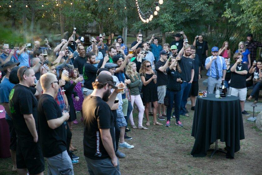 Matt Courtright's memorial event at Stone Brewing World Bistro & Gardens – Escondido. Photo courtesy of Stone Brewing Co. CREDIT: Courtesy photo