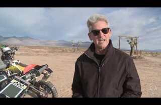 Riding a Dakar Rally motorcycle