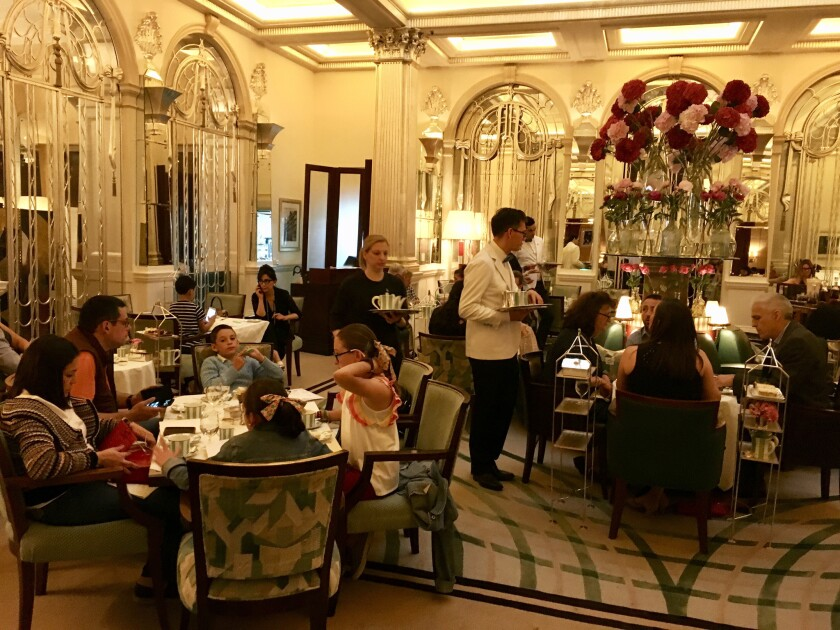 Claridge's famous afternoon teas draw family groups in addition to parties of friends.