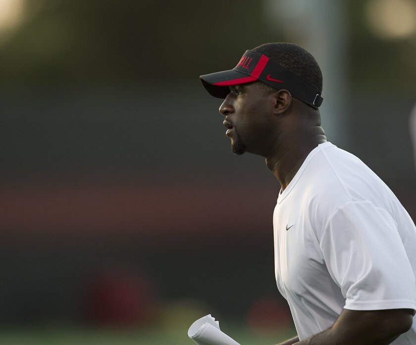 Former Aztec Lynell Hamilton now works with Aztecs special teams.