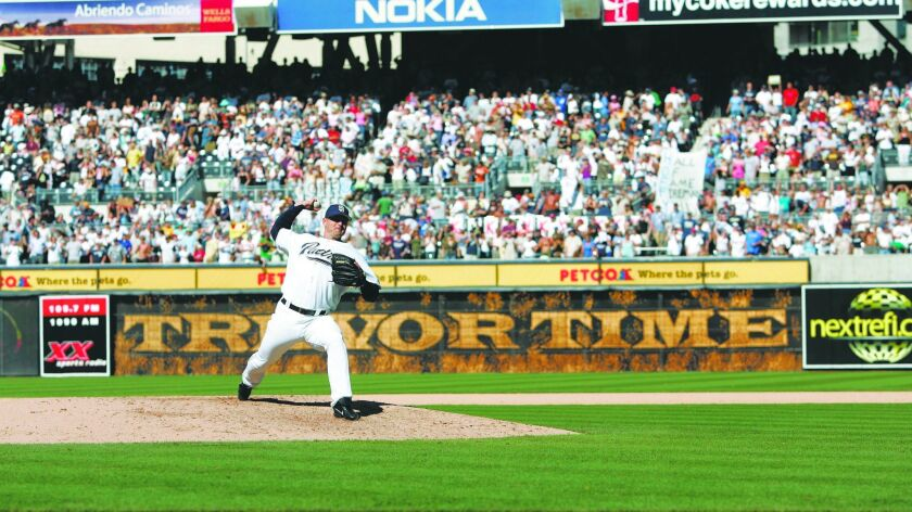 SAN DIEGO -September 24, 2006: Trevor Hoffman of the San Diego Padres broke the all time record for