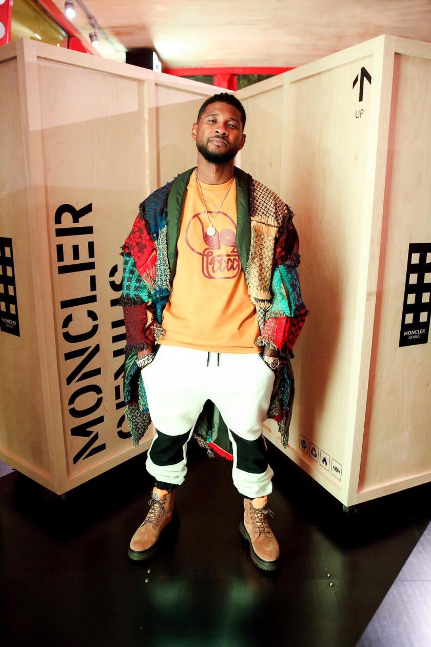 Usher at Moncler House of Genius