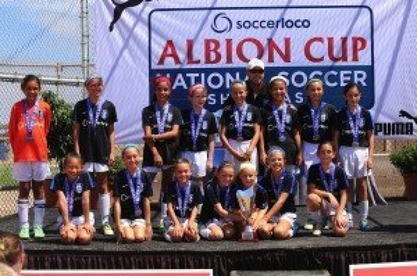San Diego Surf Academy Condliffe GU11 won the Albion National Soccer Cup championship, held July 18-21 in San Diego.