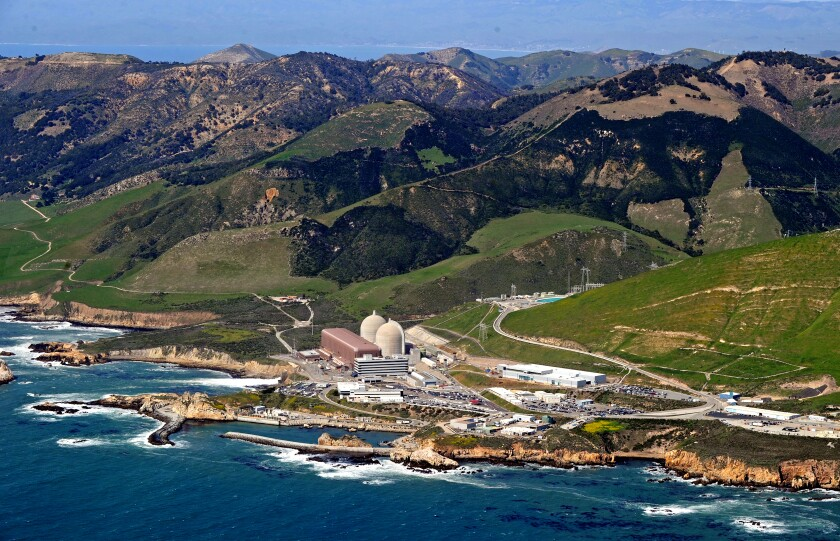 An aerial view of the Diablo Canyon nuclear power plant.