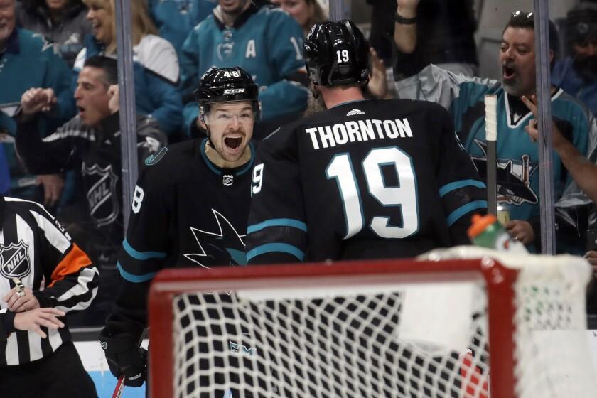 APTOPIX Canucks Sharks Hockey