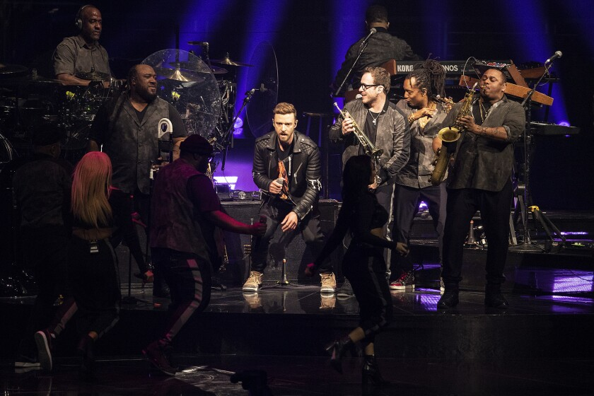 LOS ANGELES, CA, SUNDAY, MARCH 10, 2019 - Justin Timberlake performs at Staples Center. (Robert Gau
