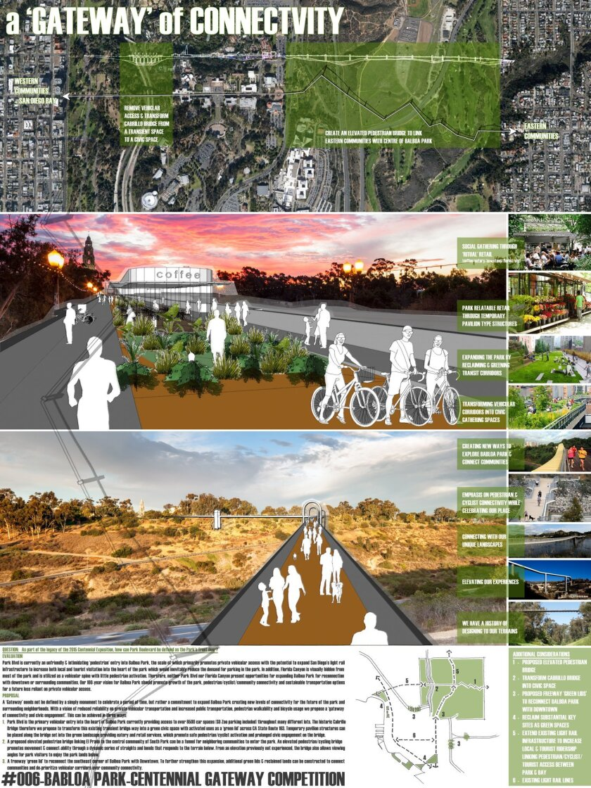 """Gateway of Connectivity,"" by Pauly De Bartolo and Craig Howard of De Bartolo +Rimanic Design Studio, won one of three top prizes for proposing a bridge across Florida Canyon."