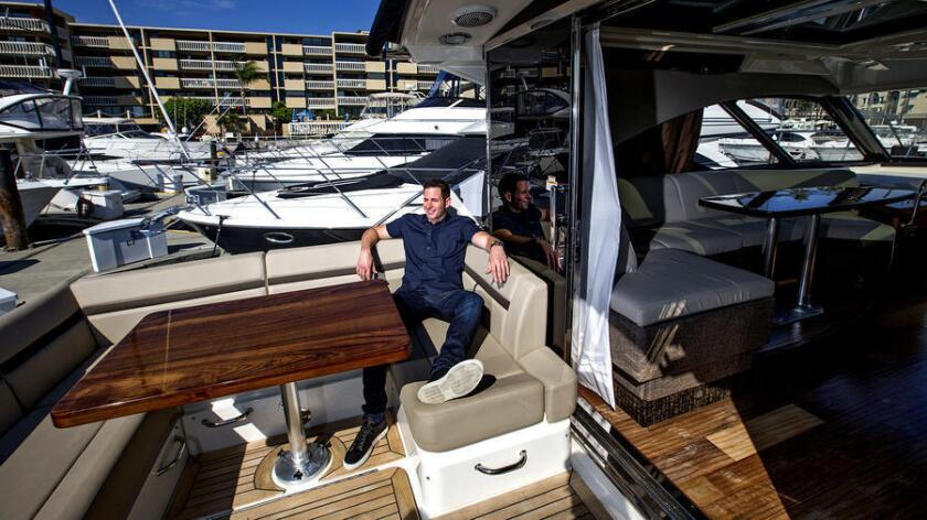 'Flip or Flop' star Tarek El Moussa is shown on his yacht.