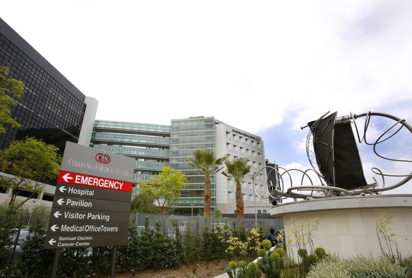 Californians got their first glimpse Thursday of what insurers plan to charge for coverage to be offered next year to about 5 million state residents who don't receive health insurance from employers. Above, Cedars-Sinai Medical Center.