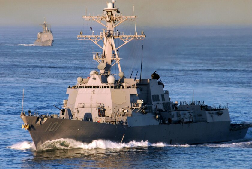 The guided-missile destroyer Gridley.