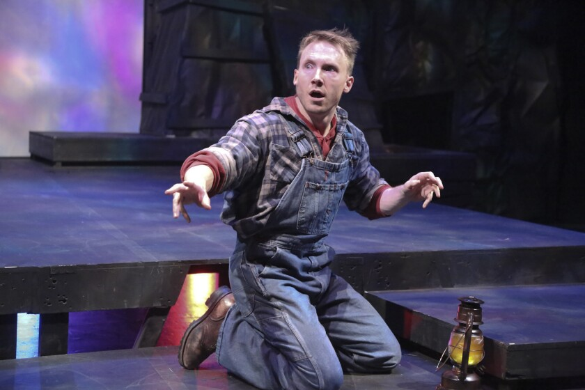 """Mark Whitten plays the lead in """"Floyd Collins,"""" based on a Kentucky caver who got trapped in 1925, at La Mirada Theatre for the Performing Arts."""
