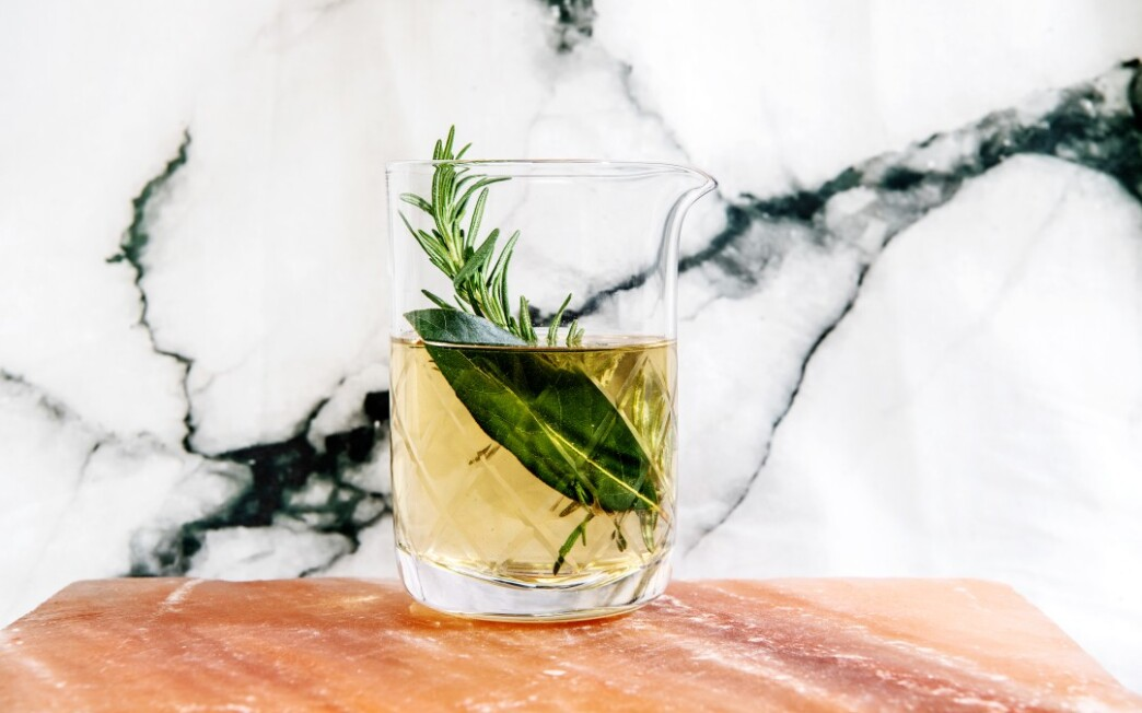 Rosemary-Bay Simple Syrup